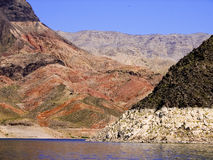 Gorgeous colours of Lake Mead. Taken while of cruise on Lake Mead, Nevada, USA Stock Photo