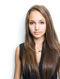 Gorgeous confident young brunette. Royalty Free Stock Photography