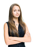 Gorgeous confident young brunette. Royalty Free Stock Photo