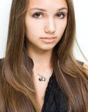 Gorgeous confident young brunette. Stock Photos