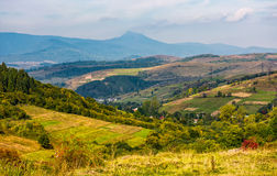 Gorgeous countryside with village in valley Stock Images