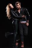 Gorgeous couple embracing Stock Image
