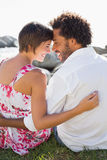 Gorgeous couple smiling at each other Royalty Free Stock Photos