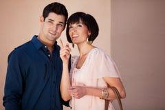 Gorgeous Couple talking Stock Photography