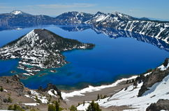 Gorgeous Crater lake on a spring day, Oregon. USA Royalty Free Stock Images