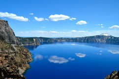 Gorgeous Crater lake on a spring day, Oregon Stock Image