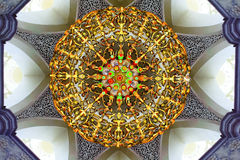Gorgeous crystal chandelier of mosque Royalty Free Stock Photos