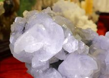 Gorgeous crystal ore, adobe rgb. Translucent pretty white natural crystal ore stock images