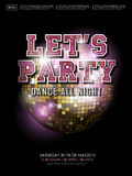 Gorgeous dance party poster design. With mirror ball elements Stock Images