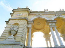 Gorgeous decorated building in Schonbrunn, Vienna Royalty Free Stock Images