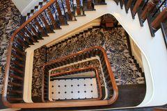 Free Gorgeous Detail In Stairway Leading To The Lobby, The Adelphi Hotel, Saratoga Springs, New York, 2018 Royalty Free Stock Photo - 115279665