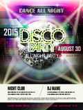 Gorgeous disco party poster design Royalty Free Stock Photography