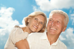 Gorgeous elderly couple went for a walk Royalty Free Stock Photography