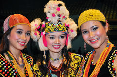 Borneo Women Beauties Stock Photo