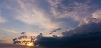Gorgeous evening cloudscape. Sunset background stock image