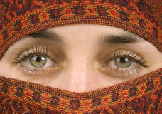 Gorgeous eyes. The beautiful eyes of a muslim woman Stock Image