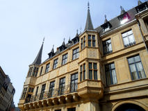 Gorgeous Facade of The Palais Grand Ducal in Luxembourg city. Luxembourg Royalty Free Stock Photos