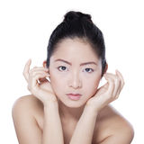 Gorgeous face with clean skin of woman Stock Photography