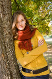 Gorgeous fall fashion girl. Stock Photo