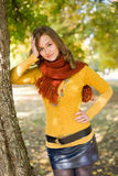 Gorgeous fall fashion girl. Royalty Free Stock Images