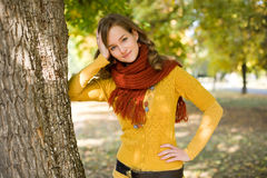 Gorgeous fall fashion girl. Royalty Free Stock Photos