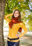 Gorgeous fall fashion girl. Stock Photography