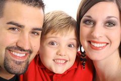 Gorgeous family portrait Stock Images