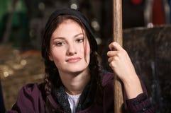 Gorgeous farming girl Royalty Free Stock Photos