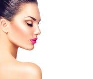 Gorgeous fashion model girl portrait Stock Image
