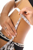 Gorgeous female measurements Stock Photo