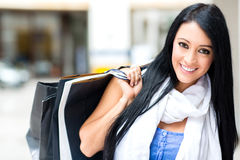 Gorgeous female shopper Royalty Free Stock Images