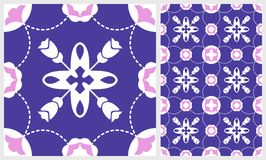 Gorgeous floral tile. Moroccan or Mediterranean octagon tiles, tribal ornaments. For wallpaper print, pattern fills, web page back Royalty Free Stock Image