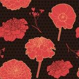 Gorgeous floral vintage black pattern Royalty Free Stock Photo