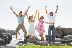 Gorgeous friends having fun together Royalty Free Stock Image
