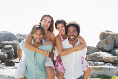 Gorgeous friends smiling at camera Stock Photography