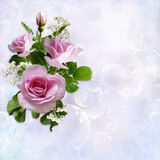 Gorgeous gentle background with flowers roses Stock Photography