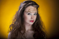 Gorgeous girl, artistic make up, proffesional photo Royalty Free Stock Photo
