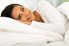 Gorgeous girl bed Stock Photography