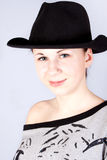 Gorgeous girl in a hat Stock Image