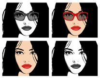 Gorgeous girl with long hair: Vector Stock Images