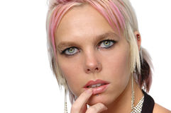 Gorgeous girl with piercings Stock Image