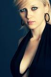 Gorgeous girl portraits. On dark background Royalty Free Stock Image