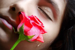 Gorgeous Girl with rose Stock Photo