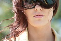 Gorgeous girl in sunglasses Royalty Free Stock Photo