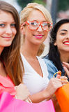 Gorgeous Girls Happy Time Together Stock Photography
