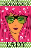 The gorgeous glasses girl Royalty Free Stock Photo