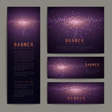 Gorgeous glitter banner design set Royalty Free Stock Photo