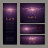 Gorgeous glitter banner design set Royalty Free Stock Photo