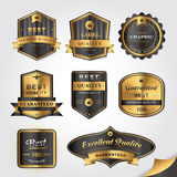 Gorgeous golden labels. Collection of gorgeous golden labels design set Royalty Free Stock Photo