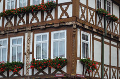 Gorgeous Half-Timbered House in Germany. Gorgeously crafted half-timbered house in Thueringen, Germany Stock Image